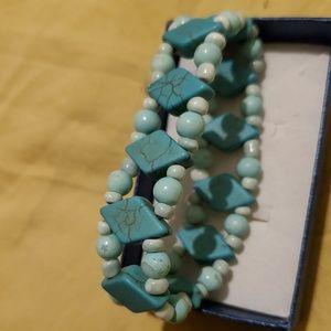 Light Turquoise Beaded Bracelet